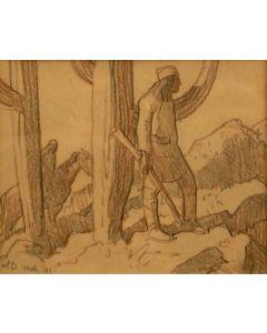 Maynard Dixon (1875-1946) - SOLD - Chiricahua Indian