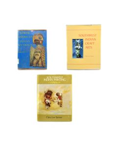 Collection of Three Books: Southwest Indian Painting and Southwest Indian Craft Arts by Clara Lee Tanner (Signed by Author) and North American Indian Mythology by Cottie Burland