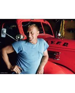 Nathan Benn - Blue Man, Red Truck, Prairie du Chien, Wisconsin, 1976