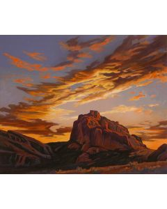 Ed Mell - Camelback Evening (Lithograph)