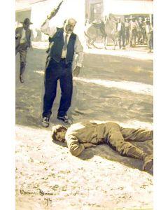 Maynard Dixon (1875-1946) - SOLD - Cohen's Handgun Was Empty