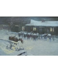 SOLD O.E. Berninghaus - Cold Evening Wait