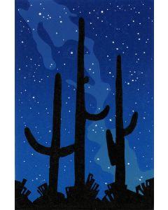 Datz, Stephen C. - Under the Milky Way (Hand Pulled Linocut Print)