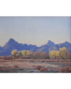 Maynard Dixon (1875-1946) - Desert Peaks and River Bottom
