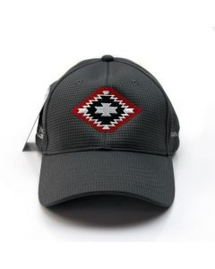 Mark Sublette Medicine Man Gallery Embroidered Hat - Gray with Red Logo