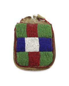 "Sioux Beaded Bag c. 1890s, 4.25"" x 3.75"" (DW1171)"