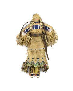 """Plains Beaded Doll c. 1890s, 14.5"""" x 9.5"""" x 2.5"""""""