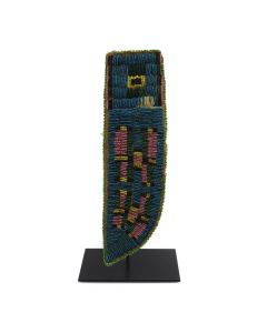 "Crow Beaded Knife Sheath c. 1890s, 10"" x 2.75"" (DW90584-0818-001)"