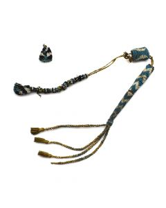 "Apache Beaded Awl Case c. 1880-90s, 25"" length (DW90619A-1219-001)"