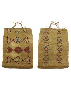 Nez Perce Double-Sided Corn Husk Bag c. 1900s (SK90757-0421-005)