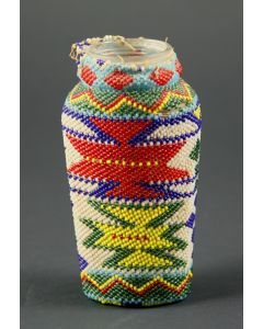 Paiute Beaded Glass Bottle