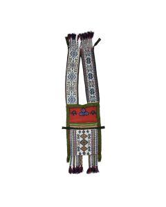 "Ojibwe Beaded Bandolier Bag c. 1880s, 40.5"" x 10"""