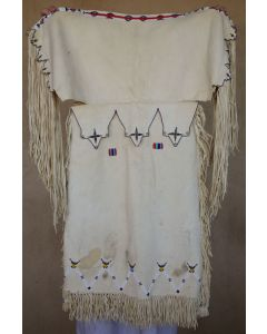 "Plains Beaded Child's Dress c. 1950s, 33"" x 22"" (DW92429-0610-001)"