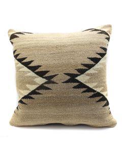 "Custom Navajo Crystal Textile Pillow c. 1920s, 17"" x 17"" x 5"" (F1402A)"