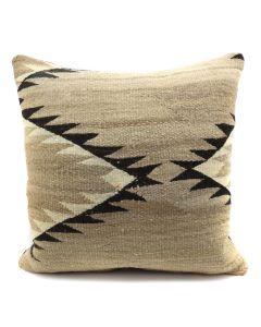 "Custom Navajo Crystal Textile Pillow c. 1920s, 17"" x 17"" x 5"" (F1402B)"