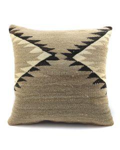 "Custom Navajo Crystal Textile Pillow c. 1920s, 17"" x 17"" x 5"" (F1402C)"