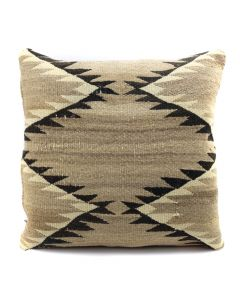 "Custom Navajo Crystal Textile Pillow c. 1920s, 17"" x 17"" x 5"" (F1402D)"