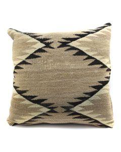 "Custom Navajo Crystal Textile Pillow c. 1920s, 17"" x 17"" x 5"" (F1402E)"