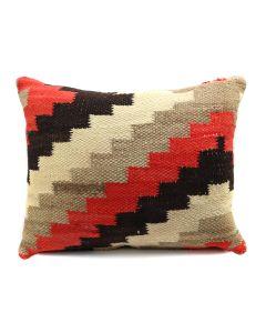 "Custom Navajo Ganado Textile Pillow c. 1930s, 15"" x 19"" x 6"" (F1404C)"