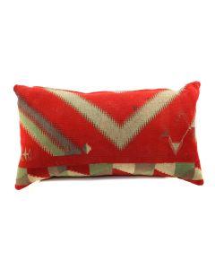 "Custom Navajo Germantown Textile Pillow c. 1890s, 13.5"" x 24"" x 6"" (F1406B)"