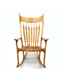 Landon Sanborn - Rocking Chair with Velvet Mesquite, Purple Heart, Black Walnut, and White Ash Accents
