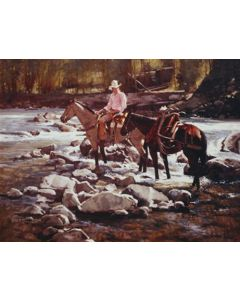 Fred Fellows - Morning Light on the Swan (Giclee Print on Canvas)