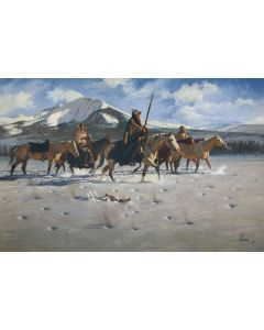 Fred Fellows - Wolves of Winter (Lithograph)