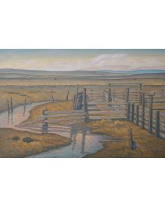 Howard Post - The Creek Did Rise - Giclee