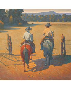 Howard Post - Working the North Pasture - Giclee