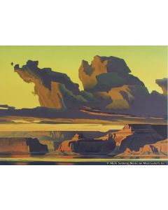 Ed Mell - Golden Light, Lake Powell (Lithograph)