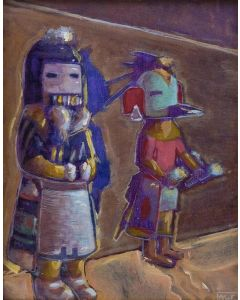 h Gibson - Kachina Study on Linen