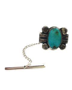 Navajo Blue Gem Turquoise Tie Clip
