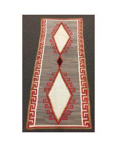"""Navajo Crystal Runner, c.1900-10, 126"""" x 50"""""""