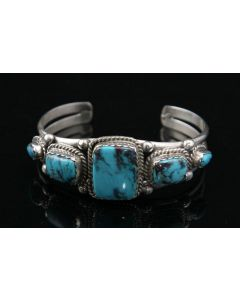 Lennie Mariano - Navajo Turquoise and Sterling Silver Bracelet, Size 6.5 (J90106-0711-024)
