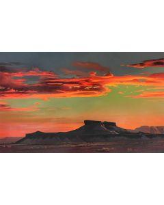 Ed Mell - Red Desert Sunset (Lithograph)