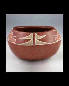 """Santa Clara Polychrome Jar c. 1940s, 3.25"""" x 5.5"""" (P90537-0113-006)"""