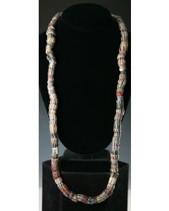 """West African Molded and Cut """"Powder"""" Glass Beads, 33"""" Long (J3103)"""