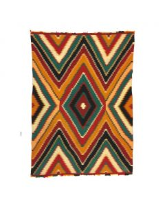 "Navajo Germantown Eyedazzler Blanket, c. 1890, 79.5"" x 57"""