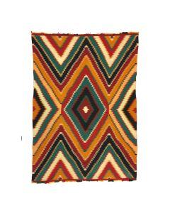 """Navajo Germantown Eyedazzler Blanket, c. 1890, 79.5"""" x 57"""""""