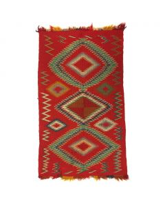 "Navajo Germantown Weaving, circa 1890s, 34"" x 20.5"" (T91358B-0517-001)1"