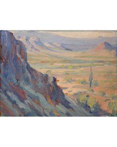 SOLD Jessie Benton Evans (1866-1954) - Arizona Landscape