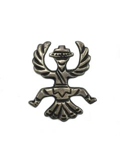 Attributed to Horace Ilue (1901-1978) - Zuni Silver Knifewing Pin