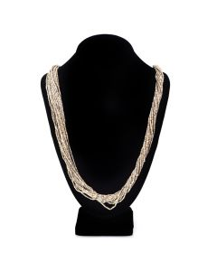 "Lot 163 - Santo Domingo (Kewa) 15-Fine-Strand Pinshell Heishi Necklace c. 1930s-40s, 28"" length (J7511)"