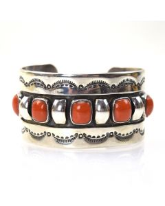 Frank Patania, Jr. - Coral and Sterling Silver Bracelet