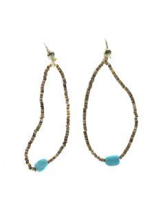 Santo Domingo Turquoise and Heishi Earrings