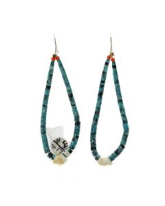 Santo Domingo Turquoise, Coral, and Mother of Pearl Joclas