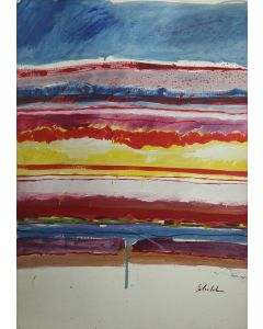 SOLD Fritz Scholder (1937-2005) - Rain Stripe