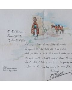 SOLD O.E. Berninghaus (1874-1952) - Illustrated Letter