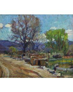 SOLD Charles Berninghaus (1905-1988) - Taos Corner