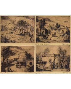 SOLD Fremont Ellis (1897-1985) - Set of 4 Etchings